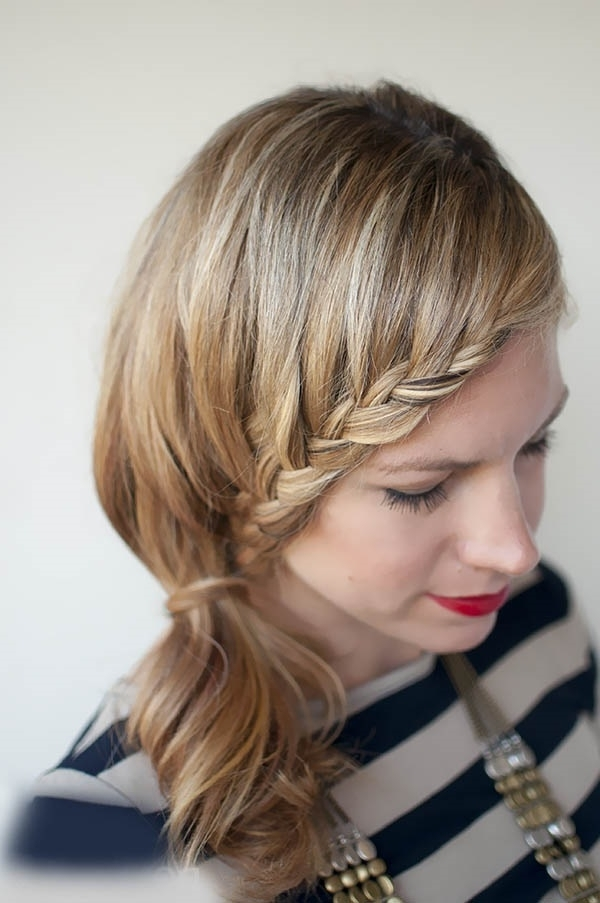101 Romantic Braided Hairstyles For Long Hair And Medium Hair For Ponytail And Lacy Braid Hairstyles (View 2 of 25)