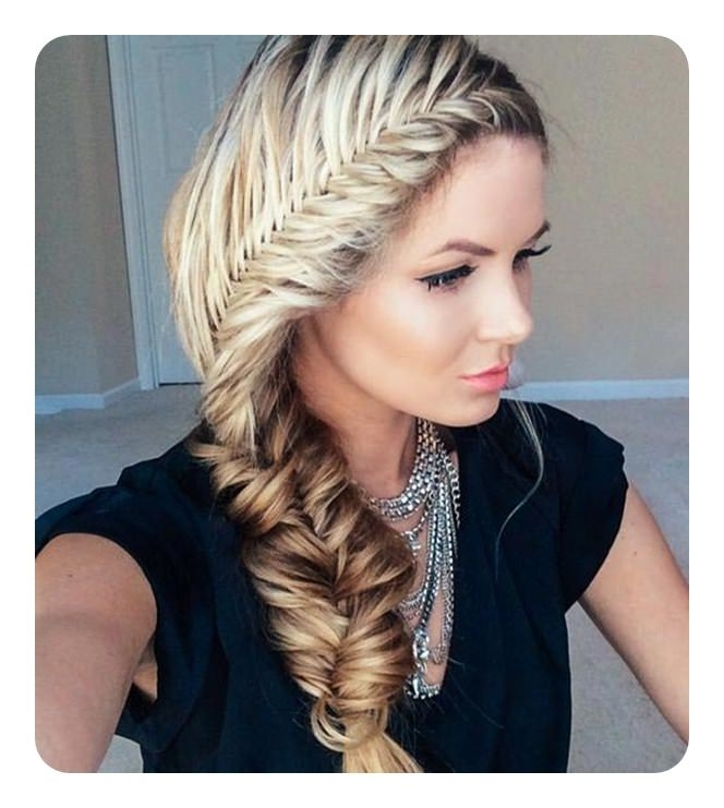104 Fishtail Braids Hairstyles That Turn Heads Within Chunky Ponytail Fishtail Braid Hairstyles (View 5 of 25)