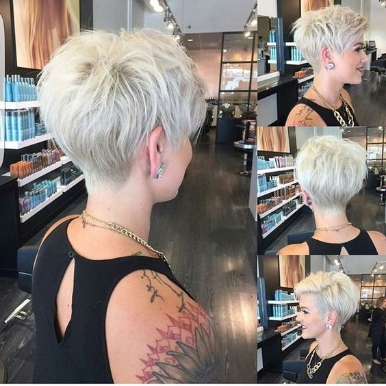 11 Amazing Short Pixie Haircuts That Will Look Great On Everyone For Best And Newest Side Parted Silver Pixie Bob Hairstyles (View 19 of 25)