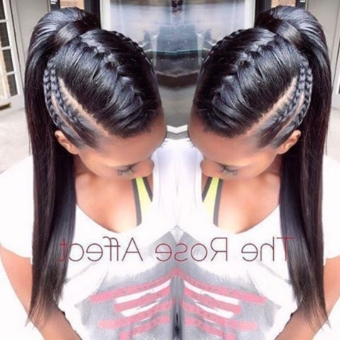 11 Beautiful Braided Ponytail | Ponytail Hairstyles | Pinterest Regarding Afro Style Ponytail Hairstyles (View 8 of 25)