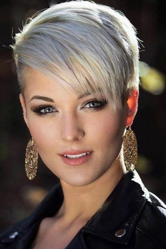 11+ Stylish Short Hair Ideas In 2018 | Hair | Pinterest | Pixie Cut Within Sassy Silver Pixie Blonde Hairstyles (View 16 of 25)