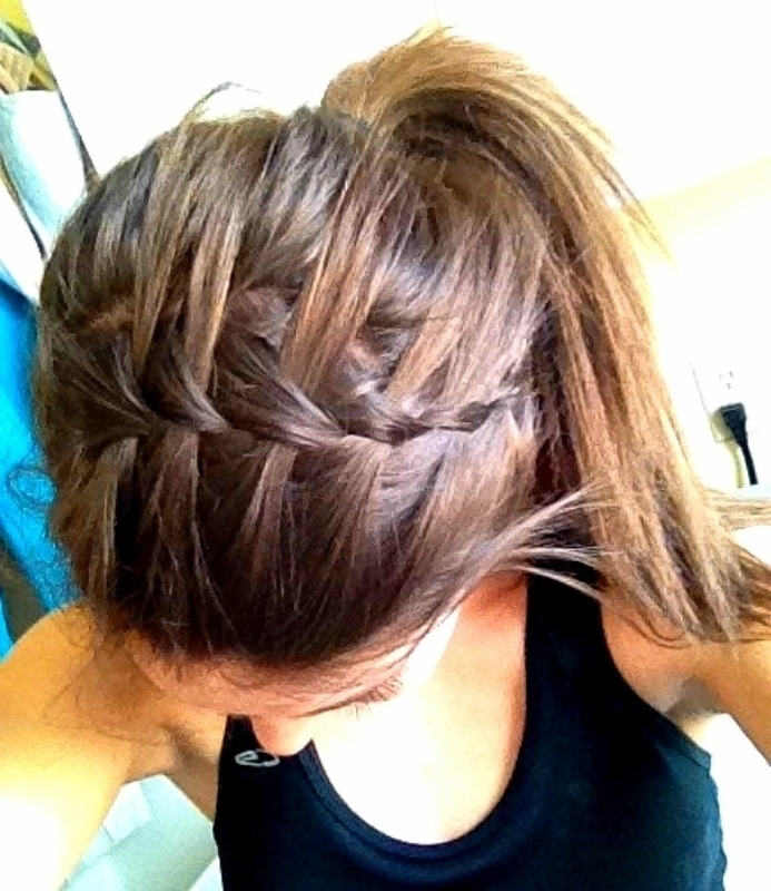 11 Waterfall French Braid Hairstyles: Long Hair Ideas – Popular Haircuts Pertaining To Brunette Ponytail Hairstyles With Braided Bangs (View 15 of 25)
