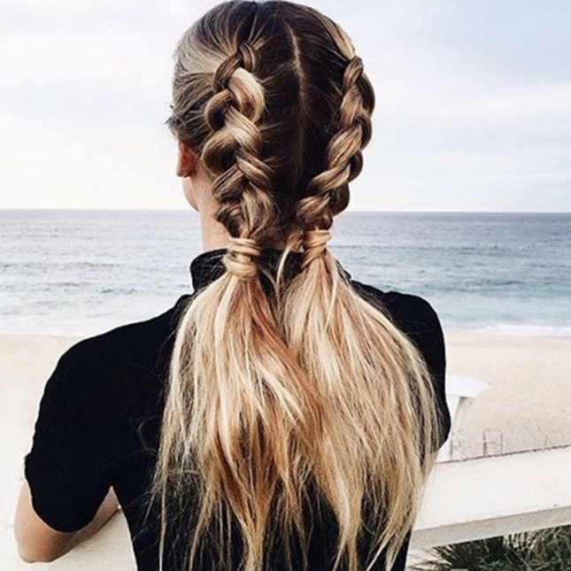 11 Ways To Wear Braided Pigtails That Don't Look Childish With Regard To Half French Braid Ponytail Hairstyles (View 16 of 25)