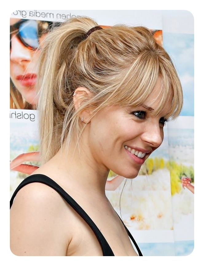 110 Ponytail With Bangs Ideas For A Good Hair Day – Style Easily For Low Loose Pony Hairstyles With Side Bangs (View 19 of 25)