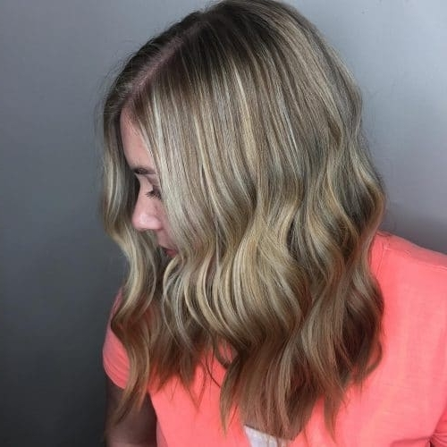 114 Top Shoulder Length Hair Ideas To Try (Updated For 2018) Inside Bronde Beach Waves Blonde Hairstyles (View 3 of 25)