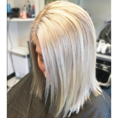 114 Top Shoulder Length Hair Ideas To Try (Updated For 2018) With Textured Medium Length Look Blonde Hairstyles (View 13 of 25)