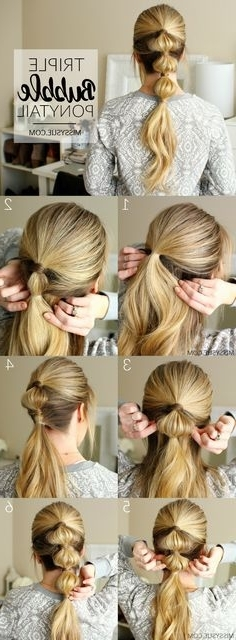 12 Best Bubble Ponytail Images On Pinterest | Ponytail, Ponytail In Bubbly Blonde Pony Hairstyles (View 2 of 25)