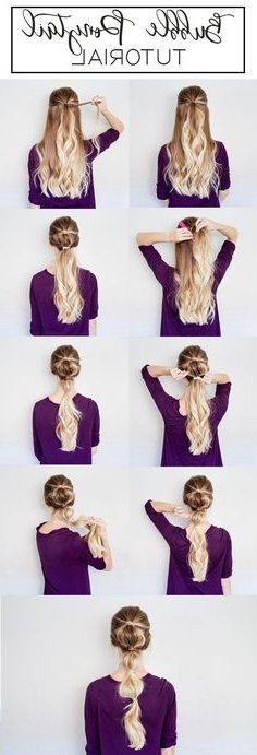 12 Best Bubble Ponytail Images On Pinterest | Ponytail, Ponytail Pertaining To Bubbly Blonde Pony Hairstyles (View 7 of 25)