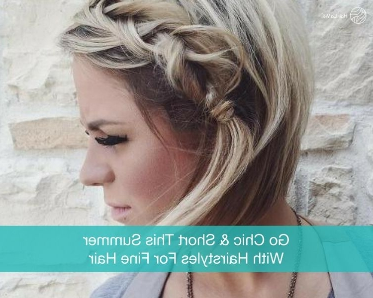 12 Chic And Stylish Hairstyles For Short Fine Hair Types | Hair La Vie In 2018 Platinum Blonde Disheveled Pixie Hairstyles (View 15 of 25)