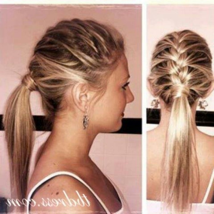 12 Cool Ponytail Hairstyles For Women 2015 – Pretty Designs Within Pony Hairstyles With Wrap Around Braid For Short Hair (View 4 of 25)