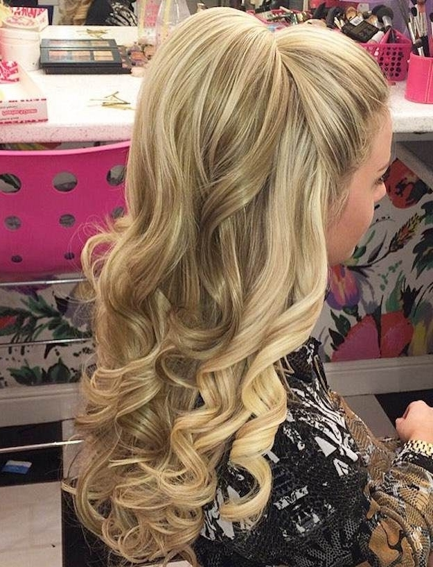 12 Curly Homecoming Hairstyles You Can Show Off | Beauty&glamour With Regard To Formal Half Ponytail Hairstyles (View 2 of 25)