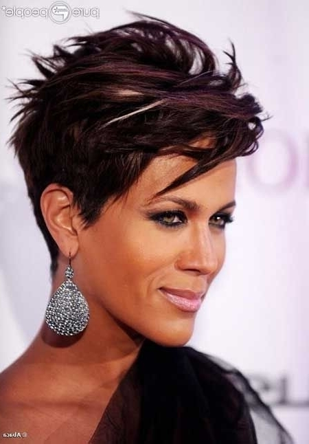 12 Fabulous Short Hairstyles For Black Women | Styles Weekly In Most Current Contemporary Pixie Hairstyles (View 21 of 25)