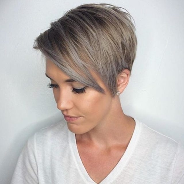 12 Long Pixie Cuts, Bangs And Bob You Will Ever Need Throughout Current Platinum Blonde Disheveled Pixie Hairstyles (View 5 of 25)