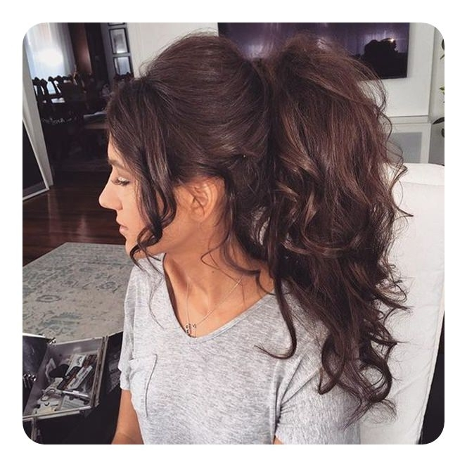 120 Fascinating Ponytail With Bangs To Cherish On With Regard To Weaved Polished Pony Hairstyles With Blunt Bangs (View 14 of 25)
