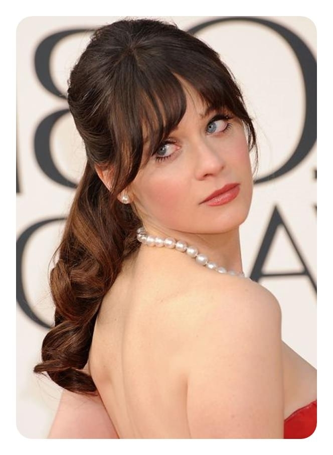 120 Fascinating Ponytail With Bangs To Cherish On Within Weaved Polished Pony Hairstyles With Blunt Bangs (View 4 of 25)