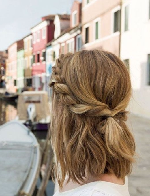 13 Medium Shoulder Length Hairstyles In 2018 | Hair | Pinterest Pertaining To Mid Length Wavy Messy Ponytail Hairstyles (View 14 of 25)