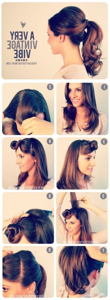 14 Glamorous Retro Hairstyle Tutorials – Pretty Designs Pertaining To Casual Retro Ponytail Hairstyles (View 1 of 25)