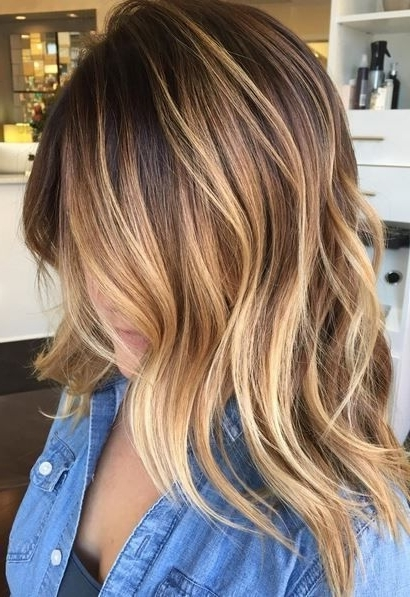 14 Hot Brunette Balayage Hairstyles That You Will Love | Cut • It With Regard To Caramel Blonde Hairstyles (View 3 of 25)