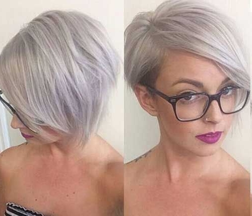 14 Short Hairstyles For Gray Hair | Hairstyles | Pinterest | Gray Pertaining To Most Up To Date Gray Blonde Pixie Hairstyles (View 4 of 25)