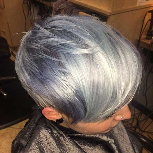 14 Short Hairstyles For Gray Hair | Short Hairstyles 2017 – 2018 For Recent Reverse Gray Ombre Pixie Hairstyles For Short Hair (View 15 of 25)