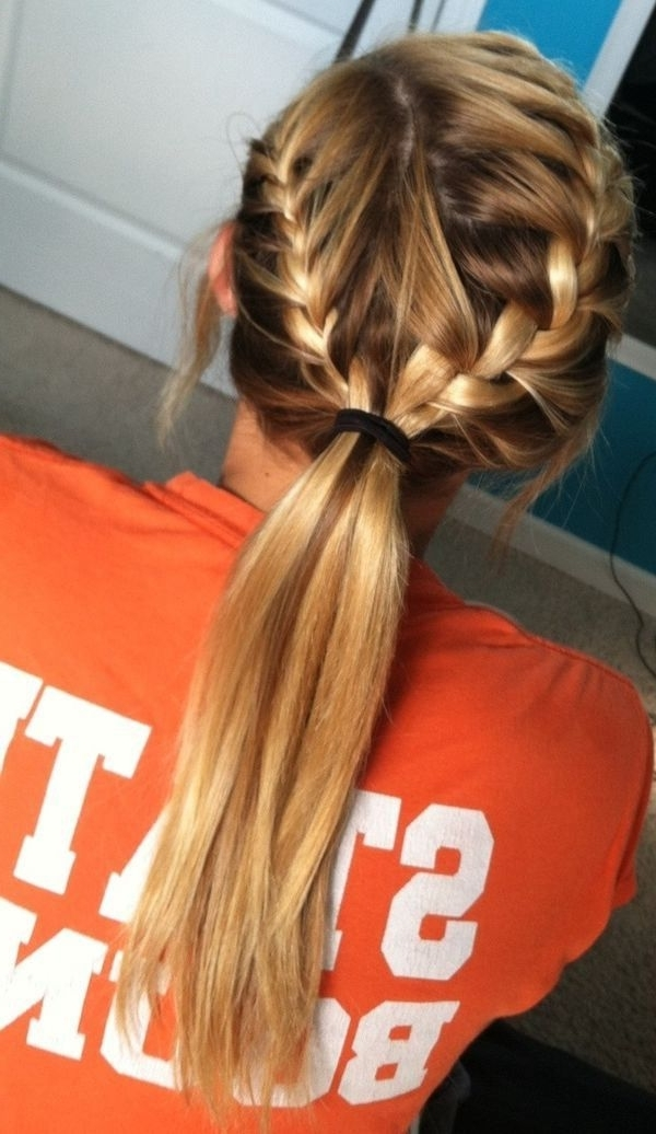 15 Adorable French Braid Ponytails For Long Hair | Hairstyles With Regard To Braid Into Pony Hairstyles (View 1 of 25)