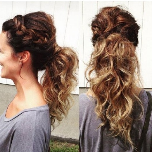 15 Adorable French Braid Ponytails For Long Hair – Popular Haircuts For Voluminous Pony Hairstyles For Wavy Hair (View 8 of 25)