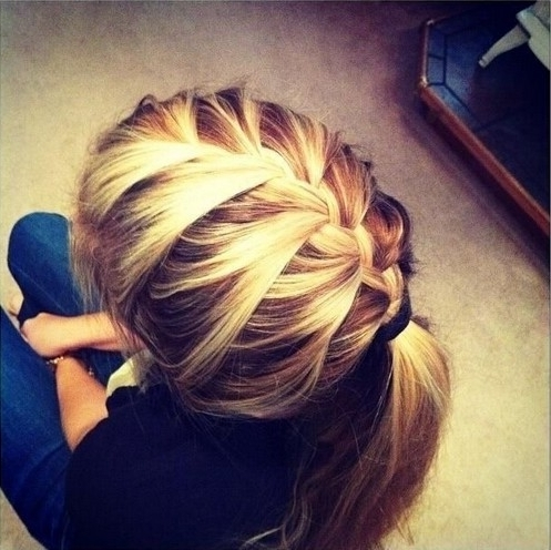 15 Adorable French Braid Ponytails For Long Hair – Popular Haircuts Pertaining To French Braid Ponytail Hairstyles (View 11 of 25)