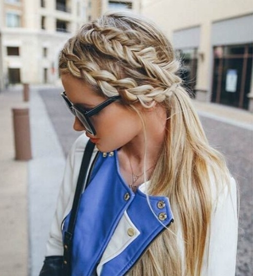 15 Adorable French Braid Ponytails For Long Hair – Popular Haircuts With Regard To Low Loose Pony Hairstyles With Side Bangs (View 23 of 25)