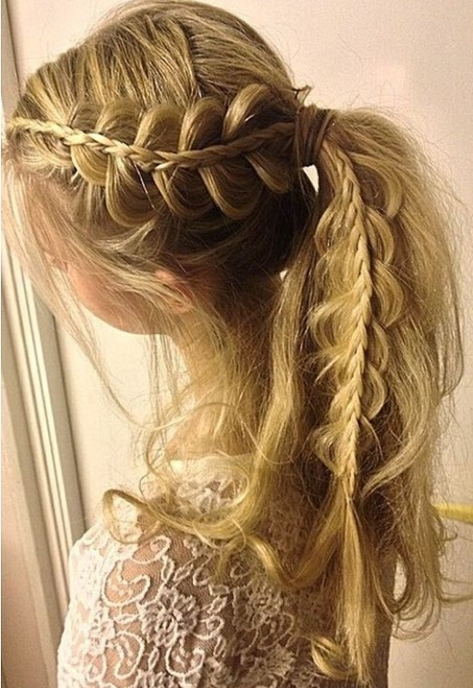 15 Adorable French Braid Ponytails For Long Hair – Popular Haircuts Within Trendy Ponytail Hairstyles With French Plait (View 4 of 25)
