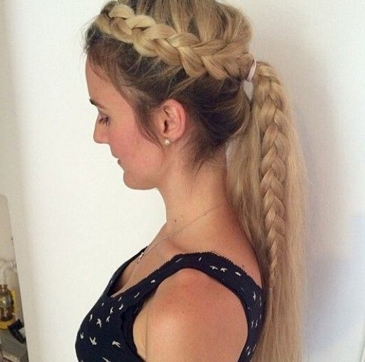 15 Adorable French Braid Ponytails For Long Hair   Women's Hair For Side Braided Ponytail Hairstyles (View 2 of 25)