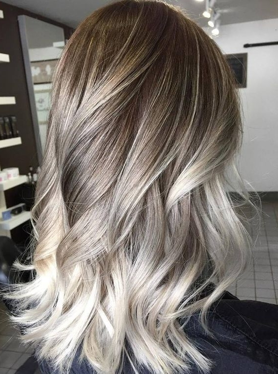 15 Amazing Ash Blonde Colored Hairstyle Ideas 2018 | Hairstyle Guru Pertaining To Balayage Blonde Hairstyles With Layered Ends (View 6 of 25)