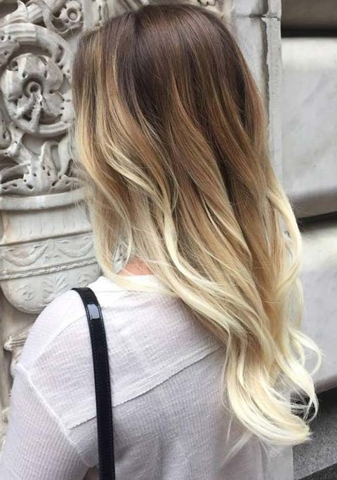 15 Balayage Hair Color Ideas With Blonde Highlights | Fashionisers With Regard To Contrasting Highlights Blonde Hairstyles (View 4 of 25)