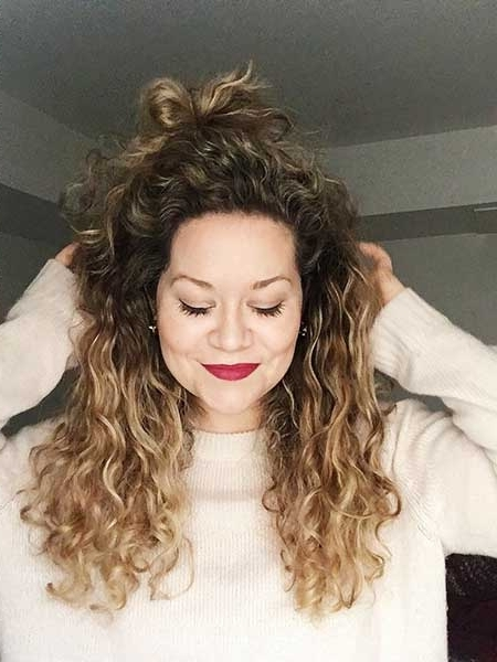 15 Best Balayage Blonde Curly Hairstyles | Hairstyles & Haircuts For Brown To Blonde Ombre Curls Hairstyles (View 15 of 25)