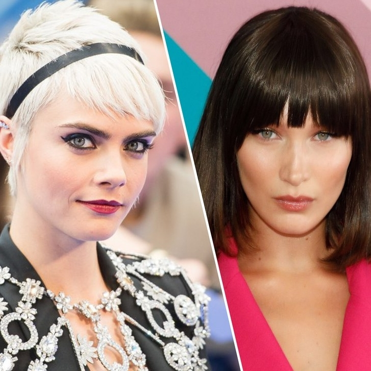 15 Best Hairstyles With Bangs – Ideas For Haircuts With Bangs | Allure For Weaved Polished Pony Hairstyles With Blunt Bangs (View 7 of 25)