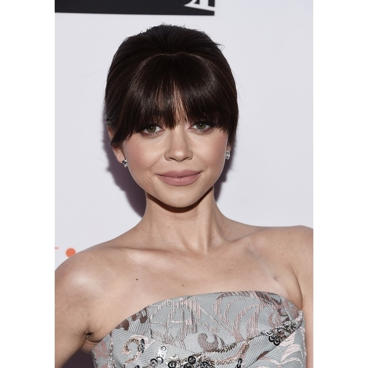 15 Best Hairstyles With Bangs – Ideas For Haircuts With Bangs | Allure With Weaved Polished Pony Hairstyles With Blunt Bangs (View 9 of 25)