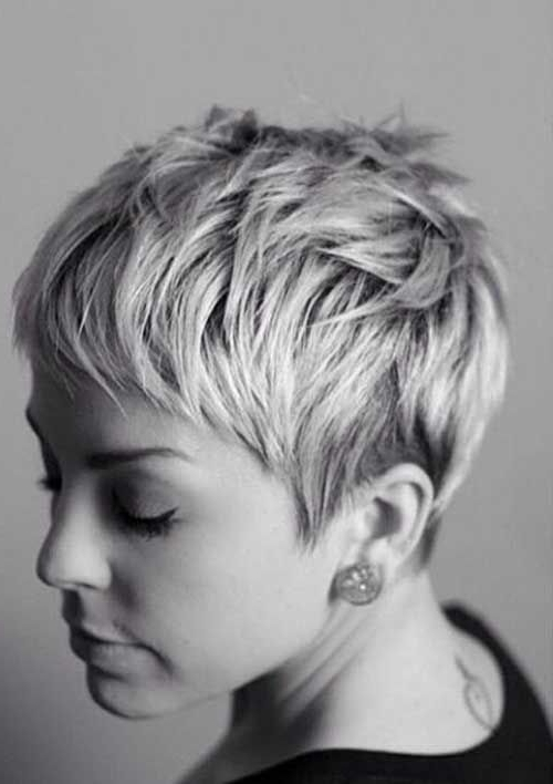 15 Best Messy Pixie Hairstyles | Hair, Face, Nails | Pinterest Within Most Current Ashy Blonde Pixie Hairstyles With A Messy Touch (View 8 of 25)