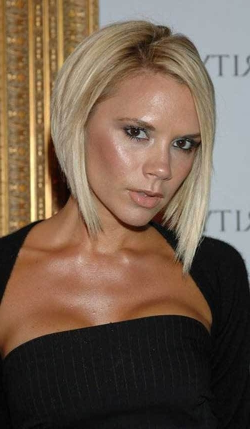 15 Best Victoria Beckham Blonde Bob Haircuts | Gorgeous Hair Pertaining To Posh Bob Blonde Hairstyles (View 6 of 25)