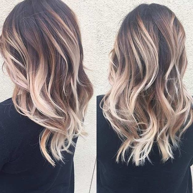 15 Blonde Balayage Looks For Brunettes 2018 | Hairstyle Guru In Brown Blonde Balayage Lob Hairstyles (View 15 of 25)