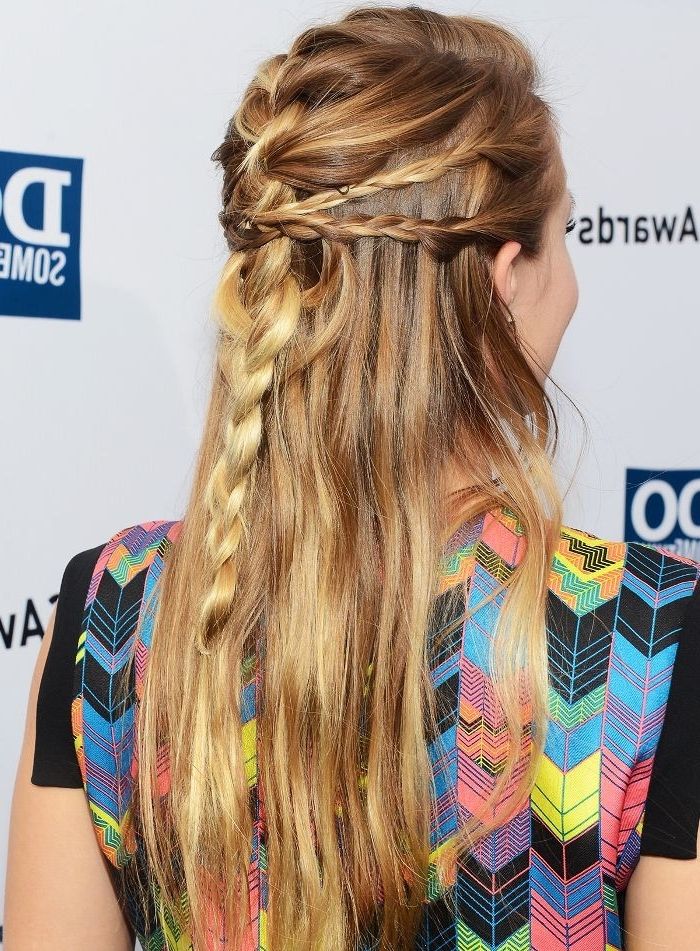 15 Braided Hairstyles That Are Actually Cool (We Swear) | Byrdie Pertaining To Hidden Braid Hairstyles (View 10 of 25)