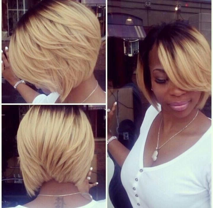 15 Chic Short Bob Hairstyles: Black Women Haircut Designs | Hair Throughout Posh Bob Blonde Hairstyles (View 13 of 25)