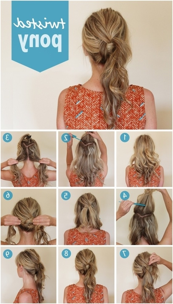 15 Cute And Easy Ponytail Hairstyles Tutorials – Popular Haircuts Inside Glossy Twisted Look Ponytail Hairstyles (View 23 of 25)
