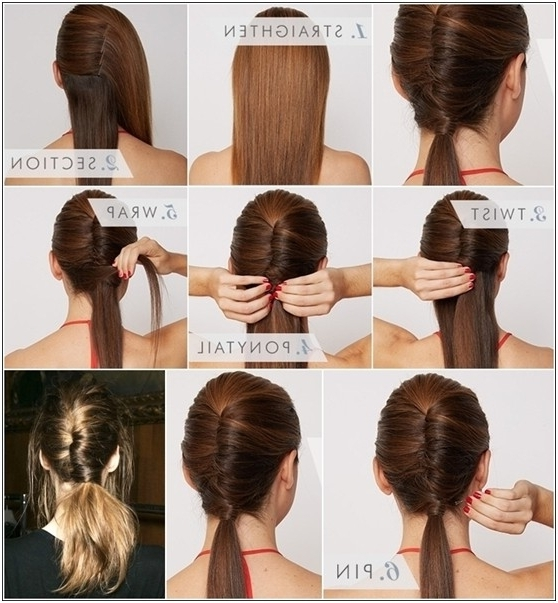 15 Cute And Easy Ponytail Hairstyles Tutorials – Popular Haircuts Within Twisted Pony Hairstyles (View 23 of 25)