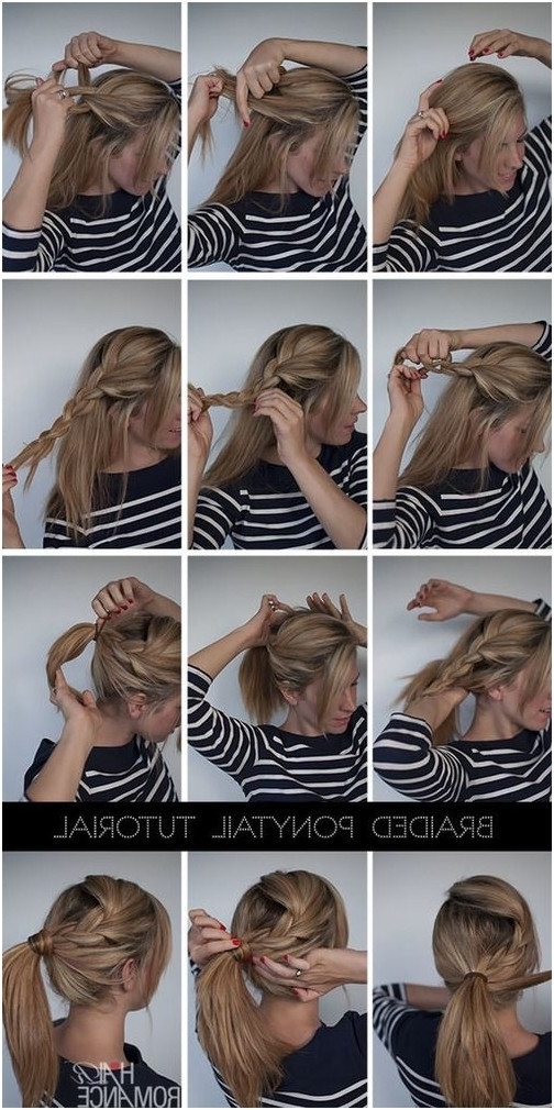15 Cute & Easy Ponytails – Sure Champ In Low Twisted Flip In Ponytail Hairstyles (View 25 of 25)