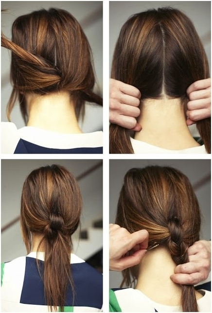 15 Cute & Easy Ponytails – Sure Champ Regarding Knotted Ponytail Hairstyles (View 1 of 25)
