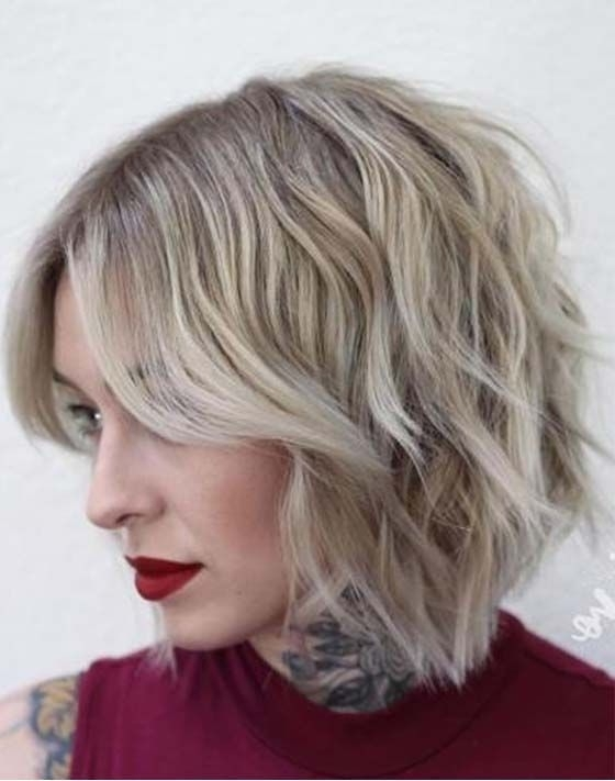 15 Easy Short Choppy Bob Haircuts 2018 In 2018 | Hair | Pinterest For Choppy Cut Blonde Hairstyles With Bright Frame (View 12 of 25)