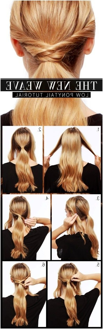 15 Fun, Pretty And Unique Ponytail Style Ideas You Need To Try For Low Twisted Flip In Ponytail Hairstyles (View 12 of 25)