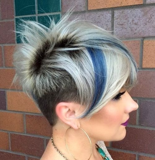 15 Funky Blonde Pixie With Dark Roots And Blue Highlights 500 Within Most Recent Undercut Blonde Pixie Hairstyles With Dark Roots (View 2 of 25)