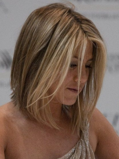 15 Great Jennifer Aniston Hairstyles   Hair   Pinterest   Jennifer Pertaining To Long Bob Blonde Hairstyles With Babylights (View 6 of 25)