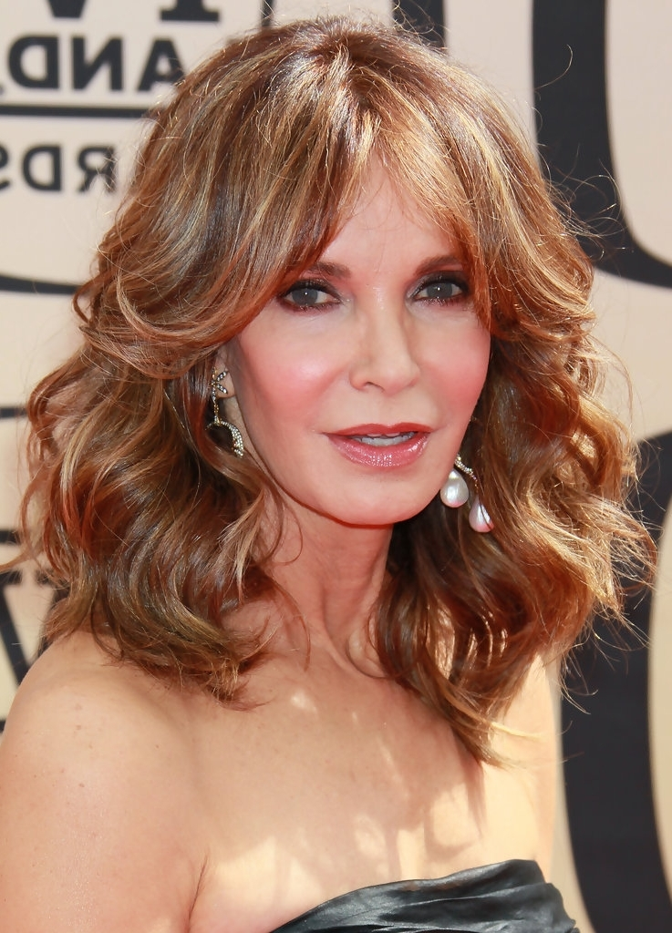 15 Hairstyles For Women Over 50 With Bangs – Haircuts & Hairstyles 2018 Regarding Latest Brunette Pixie Hairstyles With Feathered Layers (View 17 of 25)