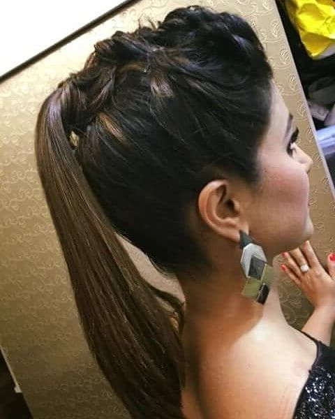 15 Hina Khan Hairstyles To Get That Akshara Singhania Look Pertaining To Intricate Updo Ponytail Hairstyles For Highlighted Hair (View 4 of 25)